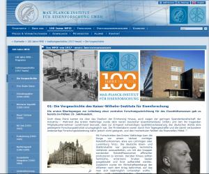 Das MPIE von 1917 - heute: Institutsgeschichte