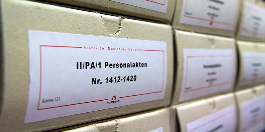 Professionelles Archiv mit Unterstützung von Neumann & Kamp