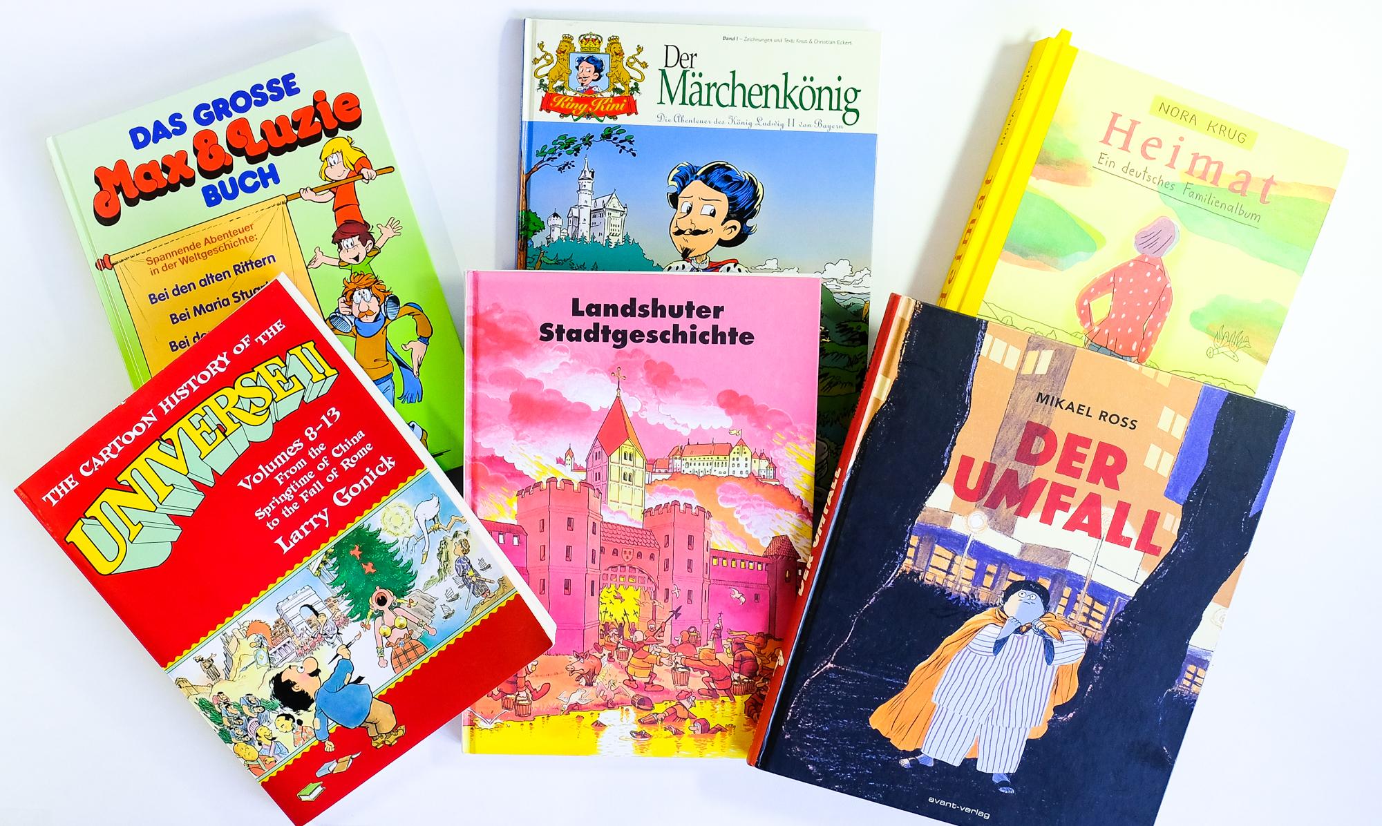 Geschichte im Comic: kleine Auswahl an Comics mit Geschichtsbezug.